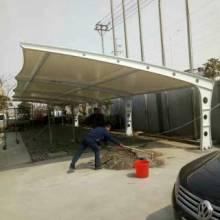 张拉膜结构停车棚小区工厂停车场电动车棚 7字形停车棚