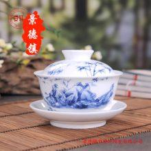 陶瓷盖碗生产厂家,陶瓷功夫茶具茶壶图片