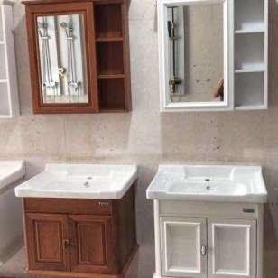河南环保碳纤维80浴室柜图片