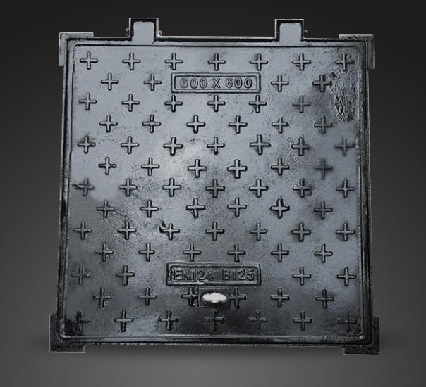 球墨铸铁方形井盖供应商/市政球墨铸铁方形污水井盖现货