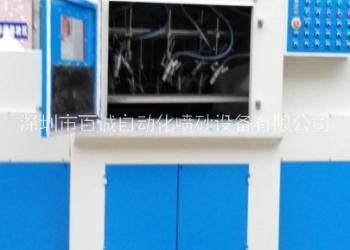 玻璃自动输送式喷砂机 环保喷砂机图片