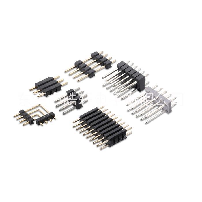 2.54间距排针 2.54排针 2.54单排U型针 2.54单排错位SMT 2.54单排弯角