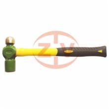 防爆奶头锤 铝青铜圆头锤子3p铜锤子防爆无火花0.5p1p2铜锤