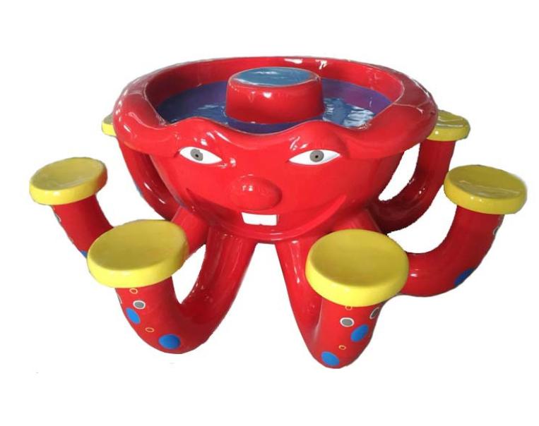 儿童沙桌章鱼沙桌 玻璃钢装饰品电玩城摆件淘气堡艺术品定制
