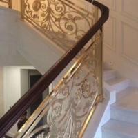 铜艺楼梯旋转式艺术扶手设计研发