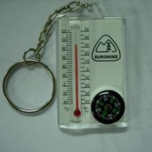 工厂直销批发定做 塑胶塑料 环保 钥匙扣指南外壳  热卖 温度计指南针 创意新奇特礼