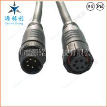 M12塑胶螺帽五芯公母对接防水连接器/LED/路灯/尼龙防水接头 M12塑胶螺帽五芯图片