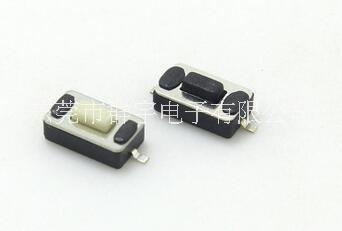 两脚贴片轻触开关3*6*2.5厂家直销  黑色/白色 按钮可定制