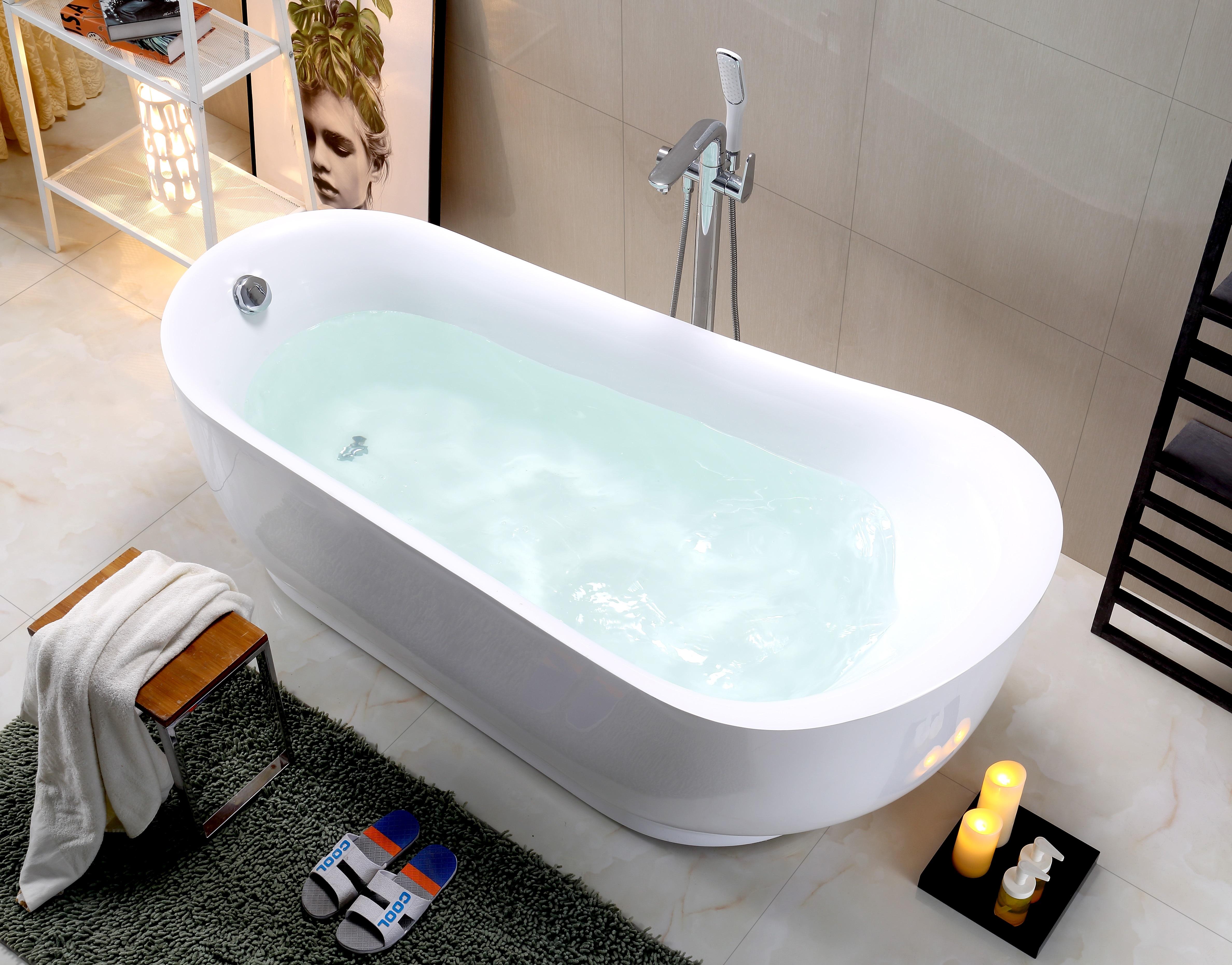 卫浴厂家直销新款独立浴缸欧式亚克力浴缸家居SPA双人浴盆