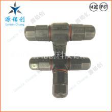 供应M20防水连接器/LED路灯防水线/L20二芯/T型三通防水接头/IP68 M20三通-2P图片