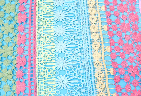 水溶牛奶丝棉线多色刺绣满福花边   刺绣花边生产厂家直销