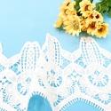 水溶牛奶丝刺绣棉布雕孔绣花条码花图片