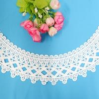 时尚服装朵花花片 水溶牛奶丝棉线领花朵花花片