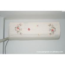 日本跨境挂式一件代发定制简约通用美观 空调罩卧室新款空调防尘罩丝带绣批发