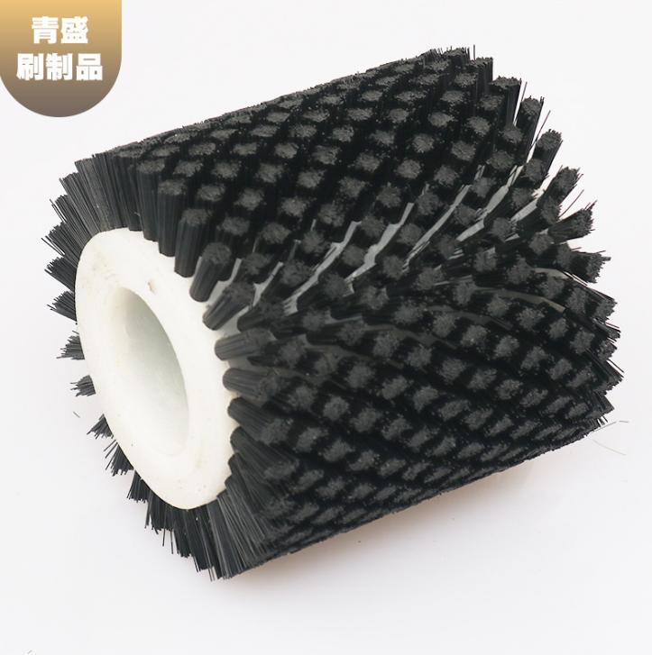 厂家定制印刷器材配件毛轮 烫金机毛刷轮 尼龙体猪鬃轮刷