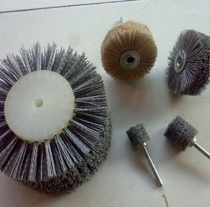 厂家生产抛光毛刷轮 磨料丝小辊刷 清洁轮刷 非标定制 来图加工
