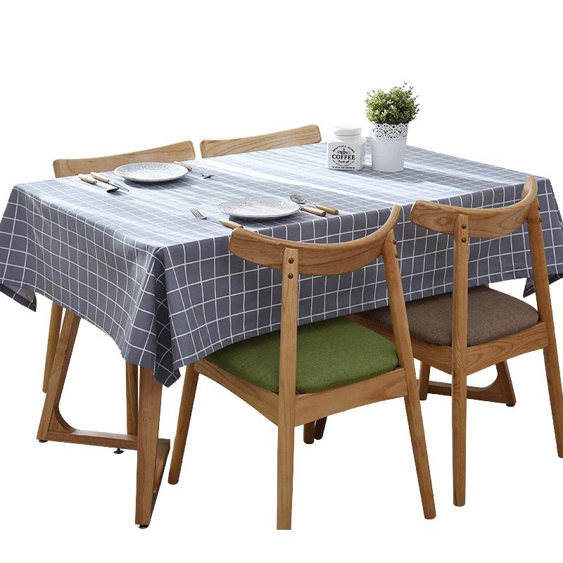 桌布防水防烫防油免洗桌布布艺棉麻小清新餐桌布ins桌布餐厅桌布