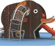 大型组合木制黄花梨攀爬架 幼儿园户外拓展儿童小孩钻攀登多功能