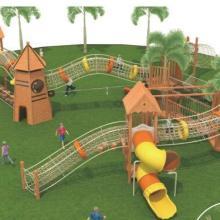 幼儿园儿童木制攀爬架爬网 优质黄花梨户外攀爬架实木游乐玩具