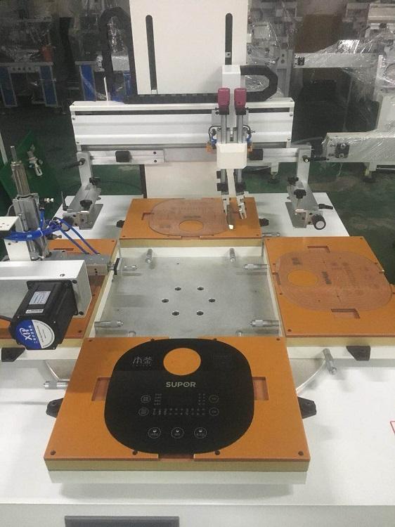 唐山市丝印机厂家玻璃面板丝网印刷