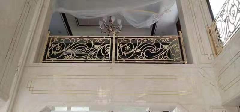 铝艺k金楼梯护栏系列定制-佛山铝艺k金楼梯护栏厂家 铝艺k金楼梯护栏定制加工