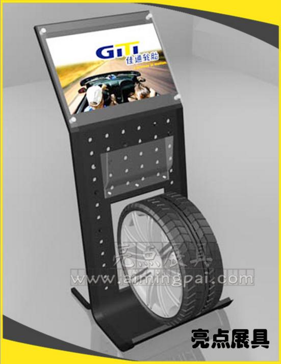批发汽车轮胎展示架 4S店货架轮胎展示架qc5