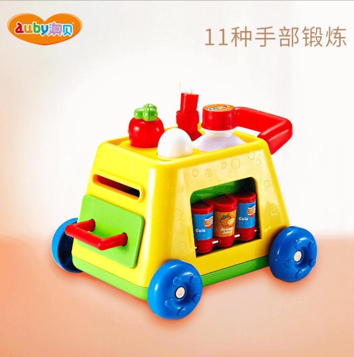 澳贝手指总动员 宝宝早教益智玩具 婴幼儿多功能玩具车一件代发
