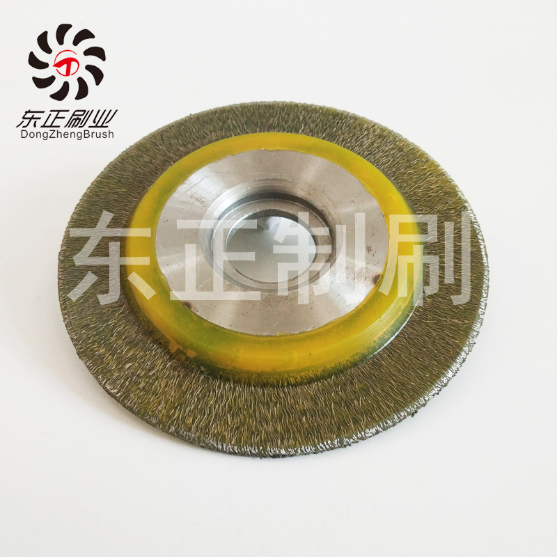 厂家直销加工圆形钢丝刷胶注端面刷抛光去锈圆盘刷专业定制
