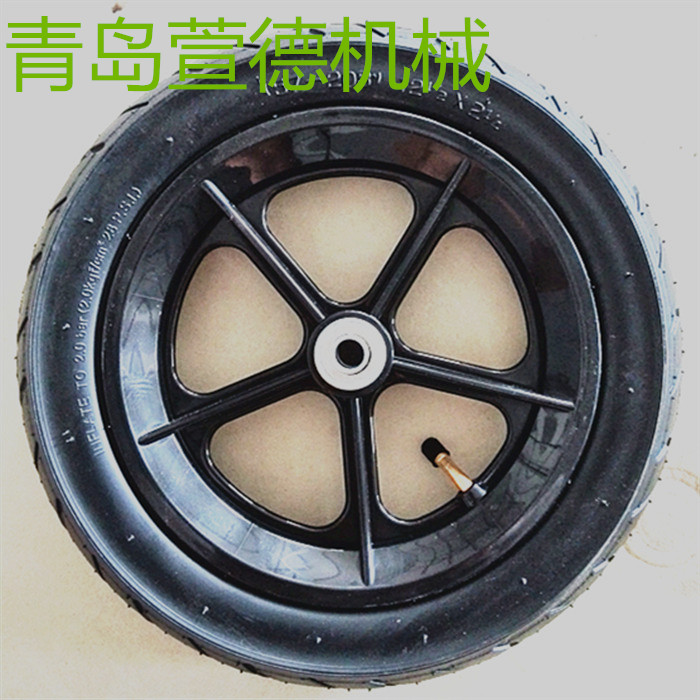 萱德12寸充气轮子酒店服务车轮子厂家  平板车轮子 工具车轮子 医疗设备轮