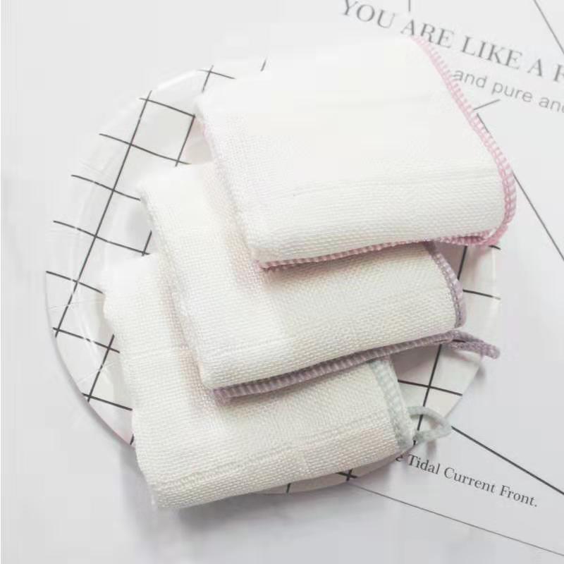 股线洗碗抹布  多功能不沾油洗碗巾 去污擦碗巾 粘胶纤维百洁布抹布