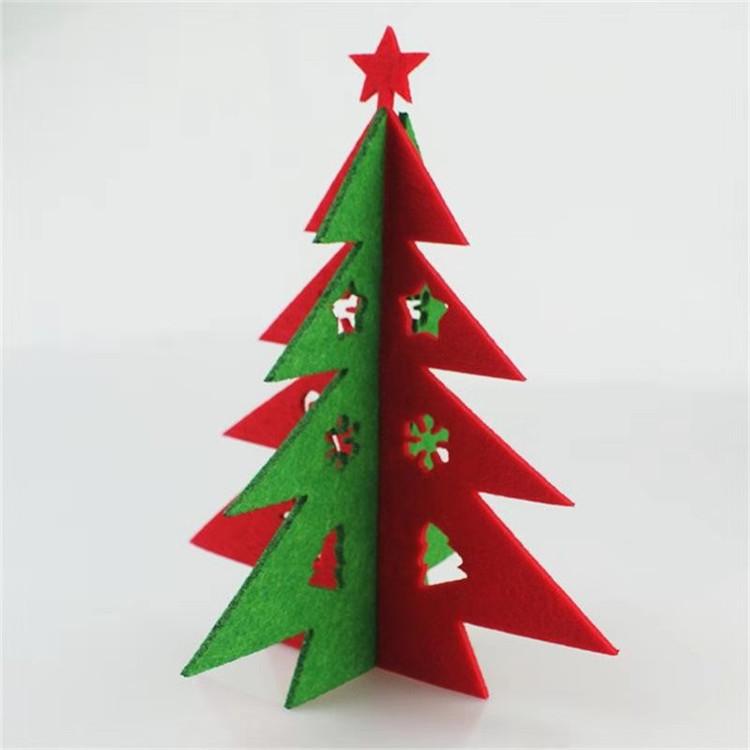 圣诞礼品毛毡圣诞树立体圣诞树挂件创意毛毡挂件可加工订做