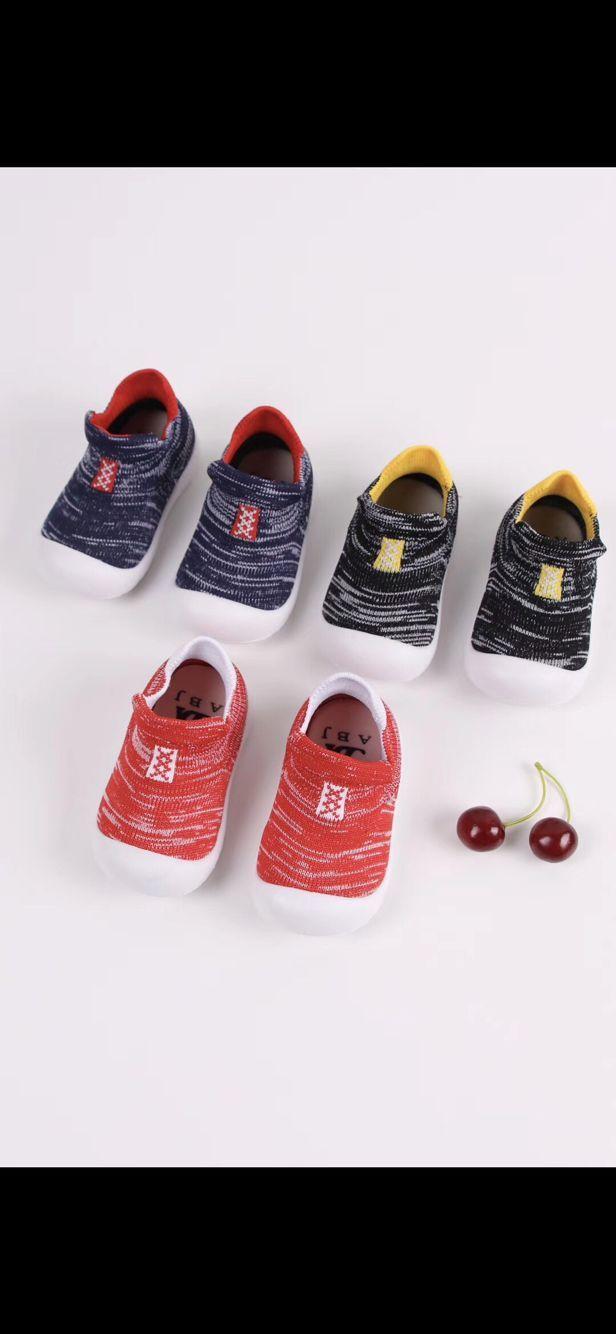 韩国男女童春秋儿童防脱宝宝全棉袜子鞋婴儿学步鞋地板袜 婴儿地板袜