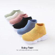 厂家直销2019新款抗震不变形儿童专用针织鞋