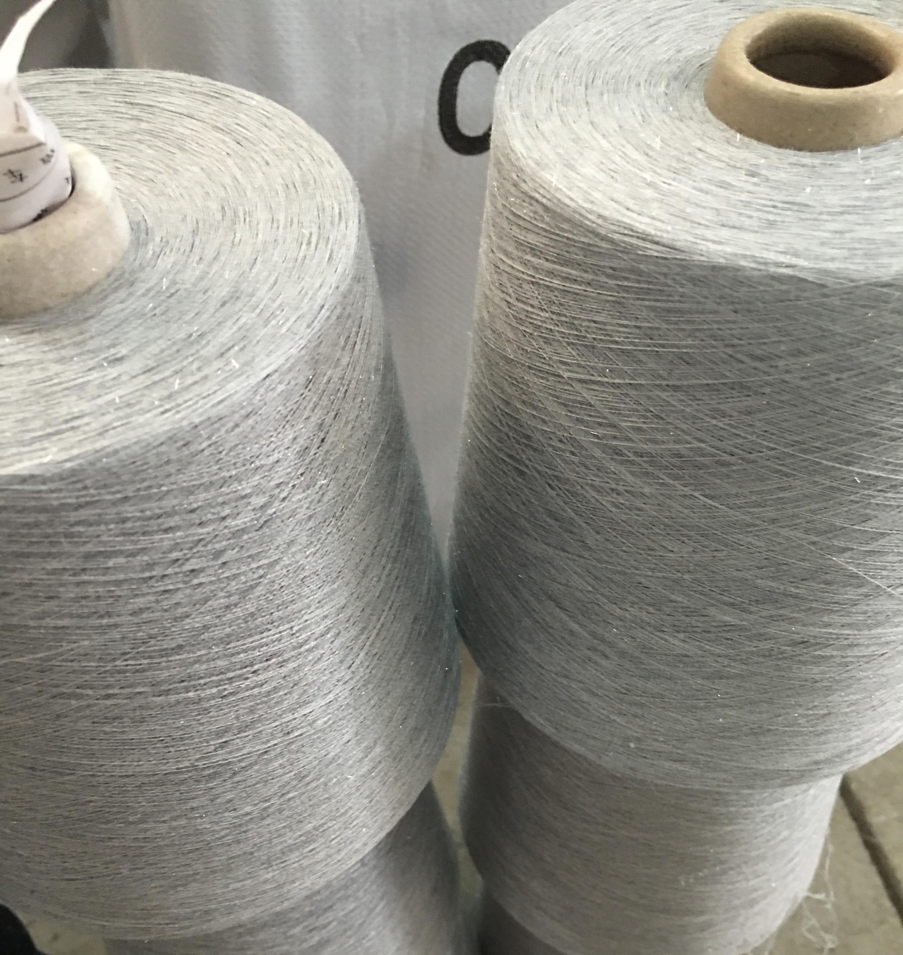 金银丝纱 现货有棉加金银丝纱 涤棉加金银丝纱 涤粘加银丝纱可以定纺生产