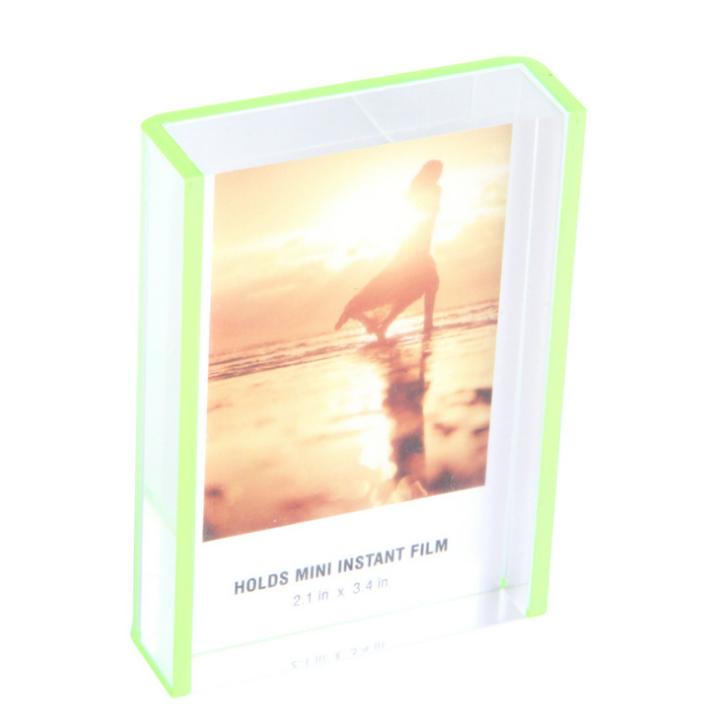 小清新相框 创意喷绿边相框 亚克力相框 创意壳喷边相框 18mm厚透明相框 亚克力工艺相框