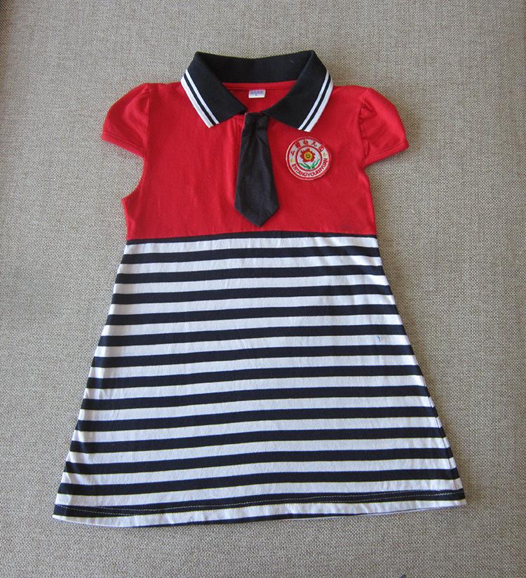 新款夏季幼儿园服校服六一儿童节表演服纯棉红色男女款专版定制
