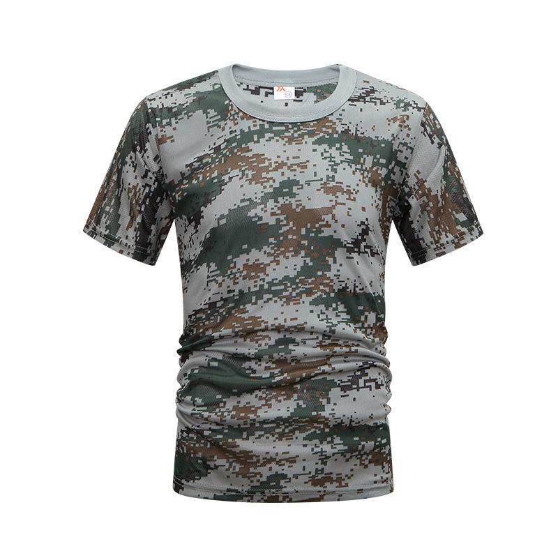 2019新款夏季数码迷彩t恤军训体能服学生成人宽松透气迷彩短袖