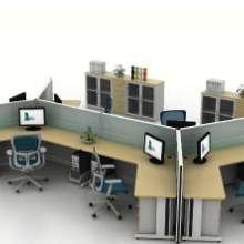 造型屏风办公桌图片
