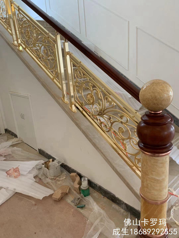 欧式铝艺楼梯加工定做,铝艺楼梯报价多少