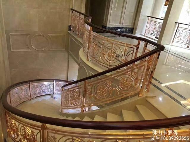 铜艺扶手厂家批发 铜艺楼梯私人订制