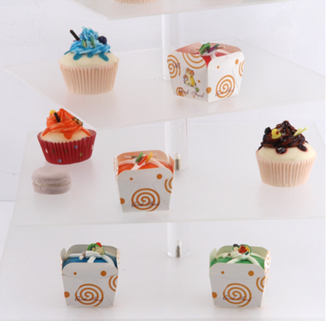 透明展示架 亚克力6层展示架 立柱方形蛋糕架 婚礼点心甜品展示架 蛋糕分层展示架 亚克力展示架 亚克力展示架报价