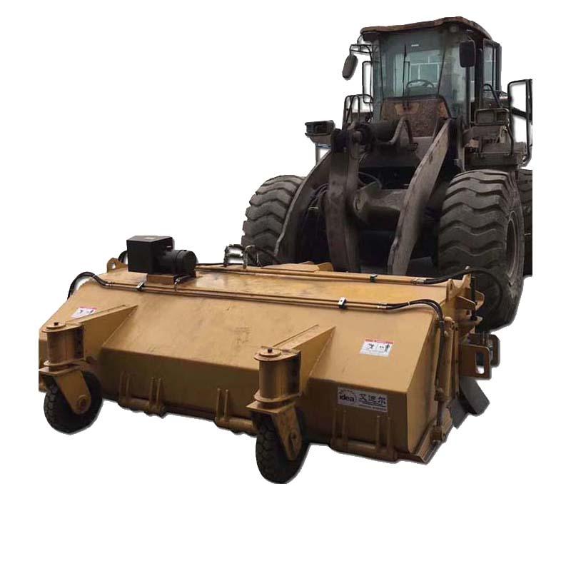 5吨铲车配大前置扫地车 厂区工程道路路面清扫车