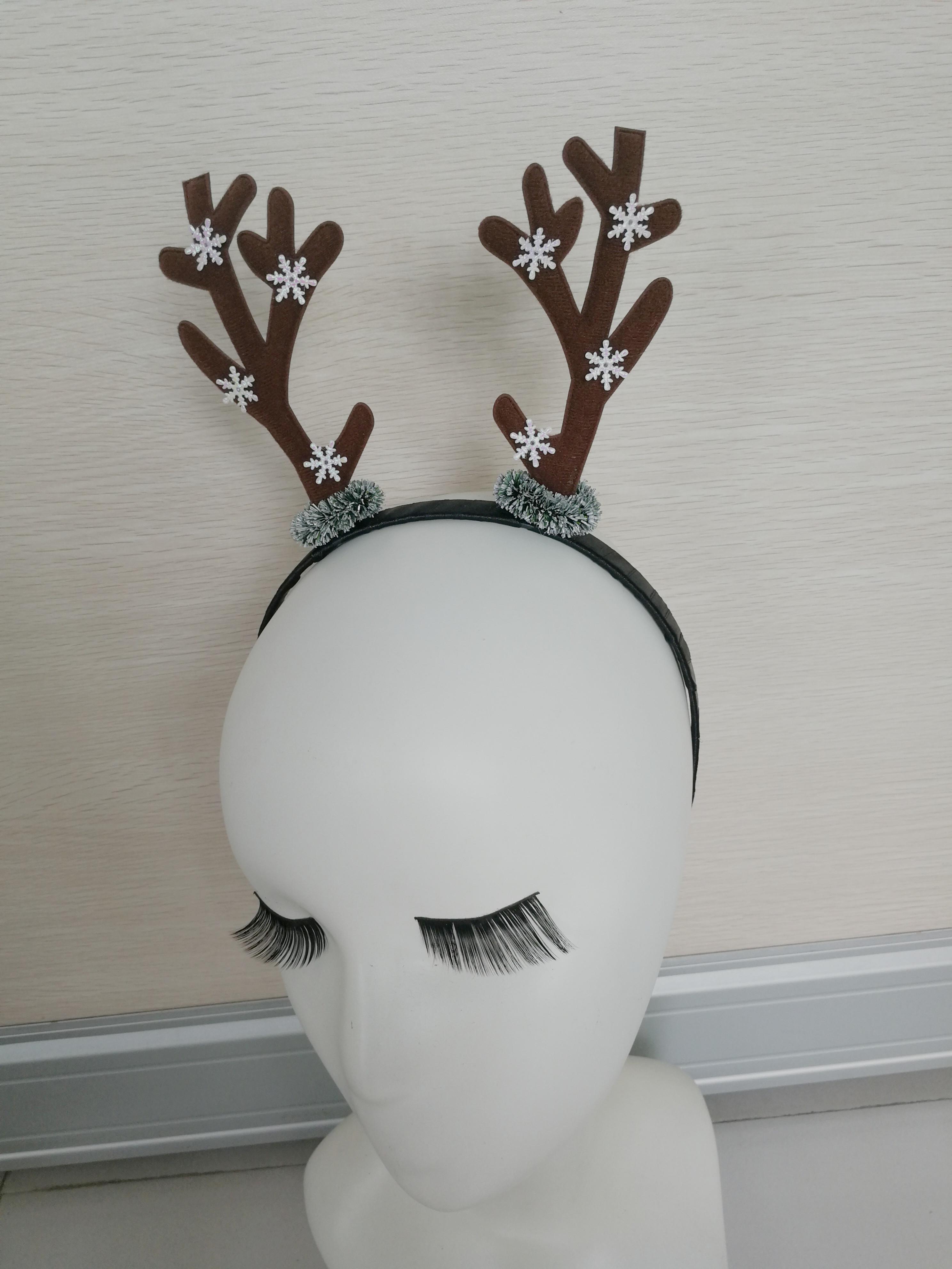 日韩 新款装饰用品创意圣诞鹿角头箍发带圣诞节派对表演装扮饰品