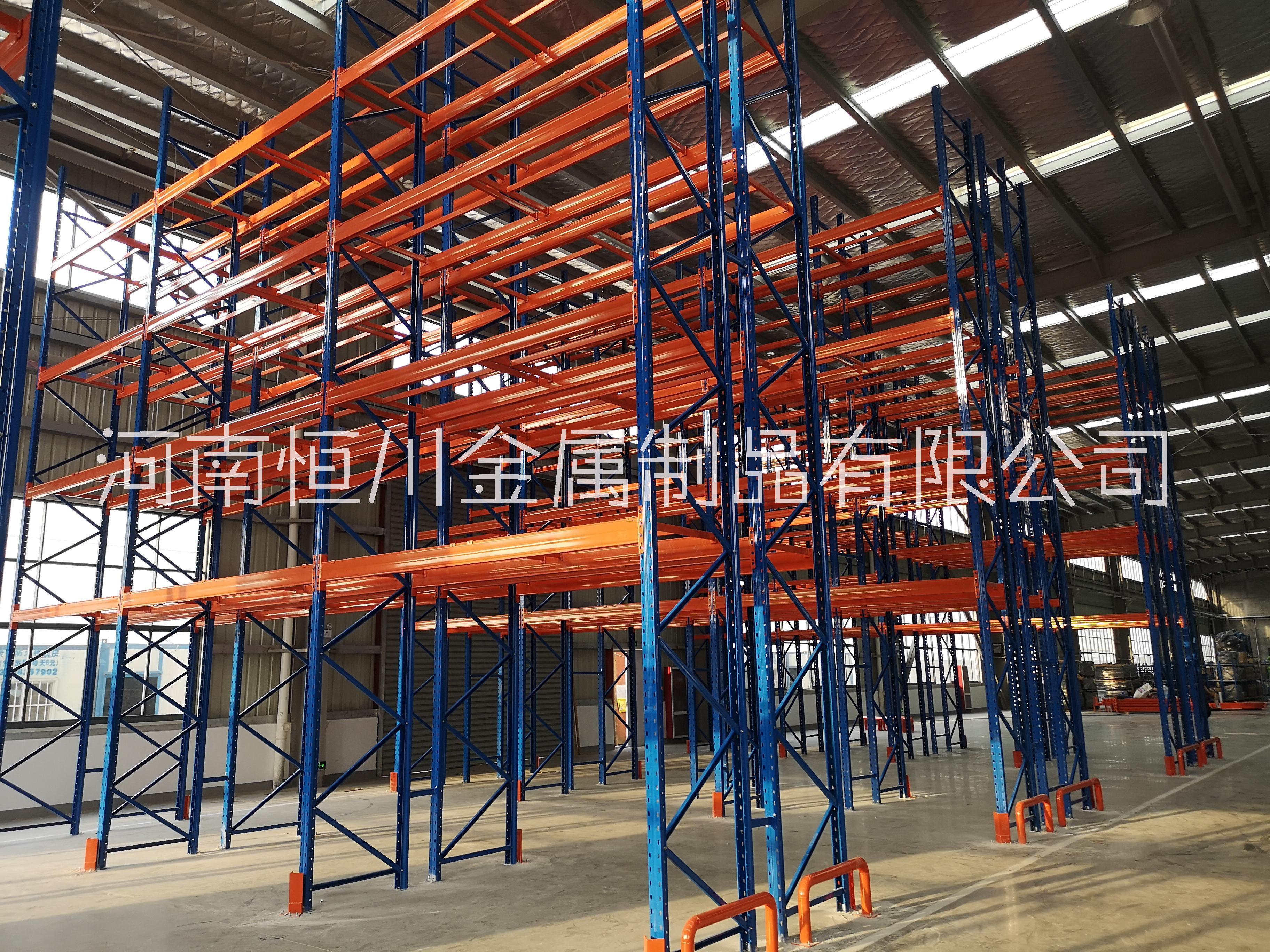 郑州恒川重型托盘货架大型仓储高位仓库库房工业承重货架定做加厚3吨/层