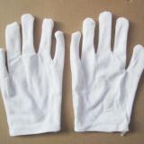 劳保用品质检作业白手套 棉质劳保手套 薄款透气汗布棉手套批发