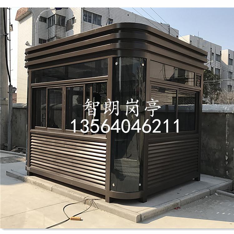 上海智朗 岗亭ZLGT301 定制加工不锈钢岗亭 钢结构岗亭 吸烟亭