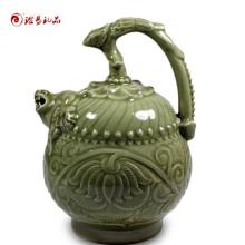 厂家直销耀州窑陶瓷摆件三件套创意陶瓷家居饰工艺品 一件代发批发