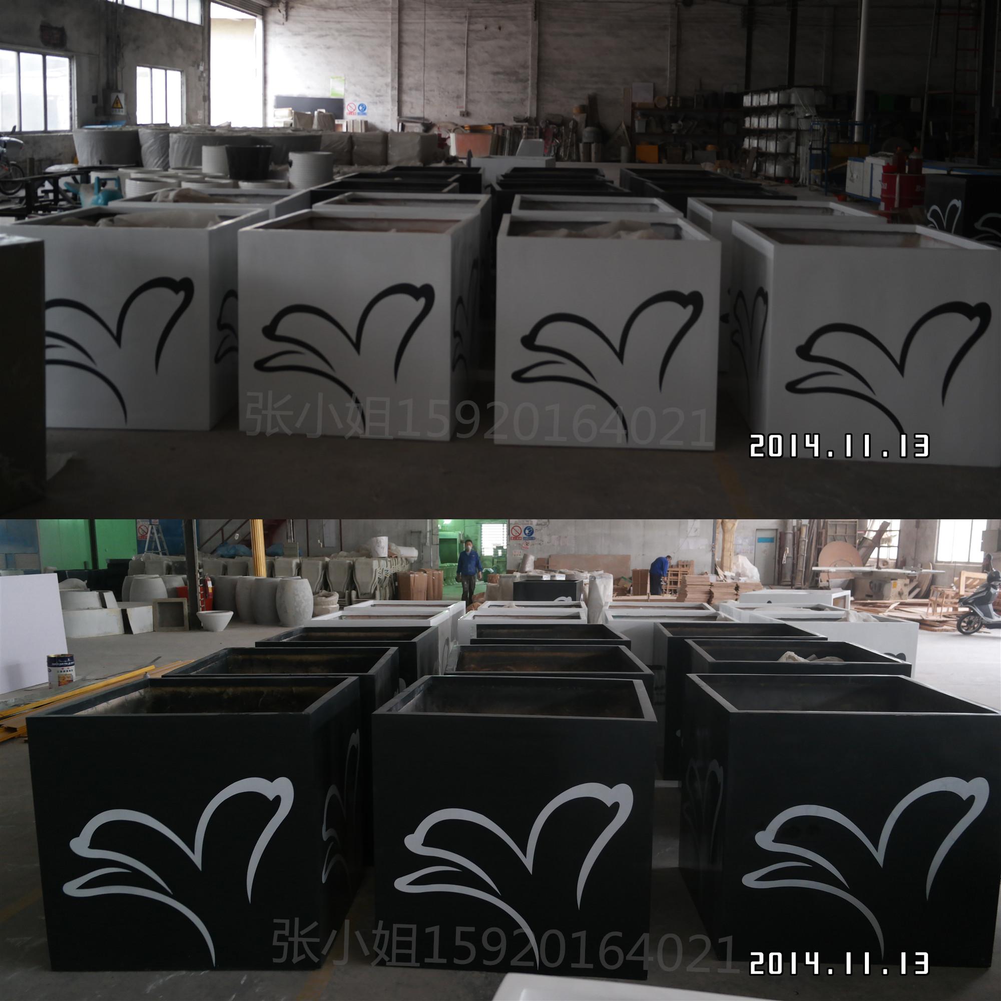 异形造型玻璃钢花盆  肇庆厂家直销玻璃钢花盆花箱定制