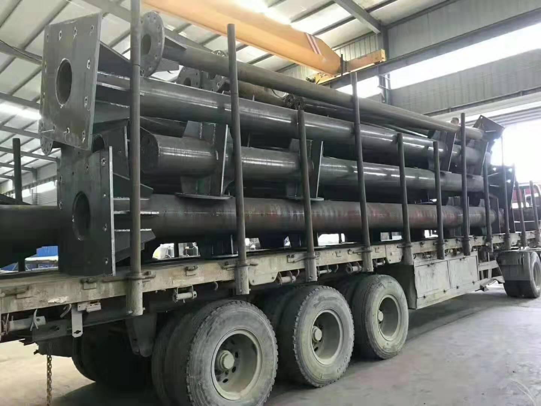 厂家定制加工-F杆-单立柱-道路杆件-Q235无缝热镀锌