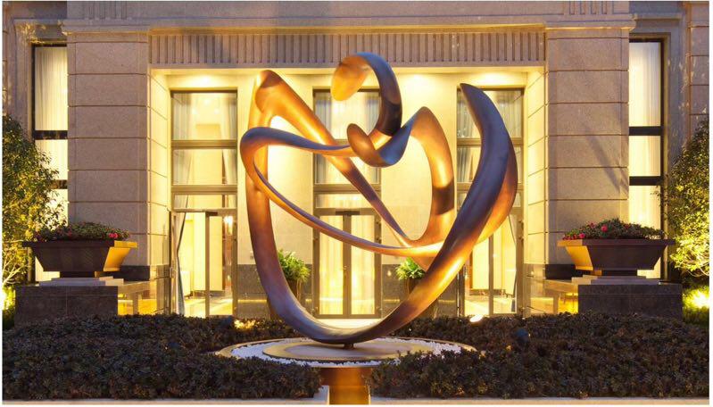 不锈钢雕塑艺术装置景观公共艺术不锈钢园林水景雕塑装置